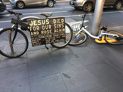Jesus Can't Help The Yellow Bikes