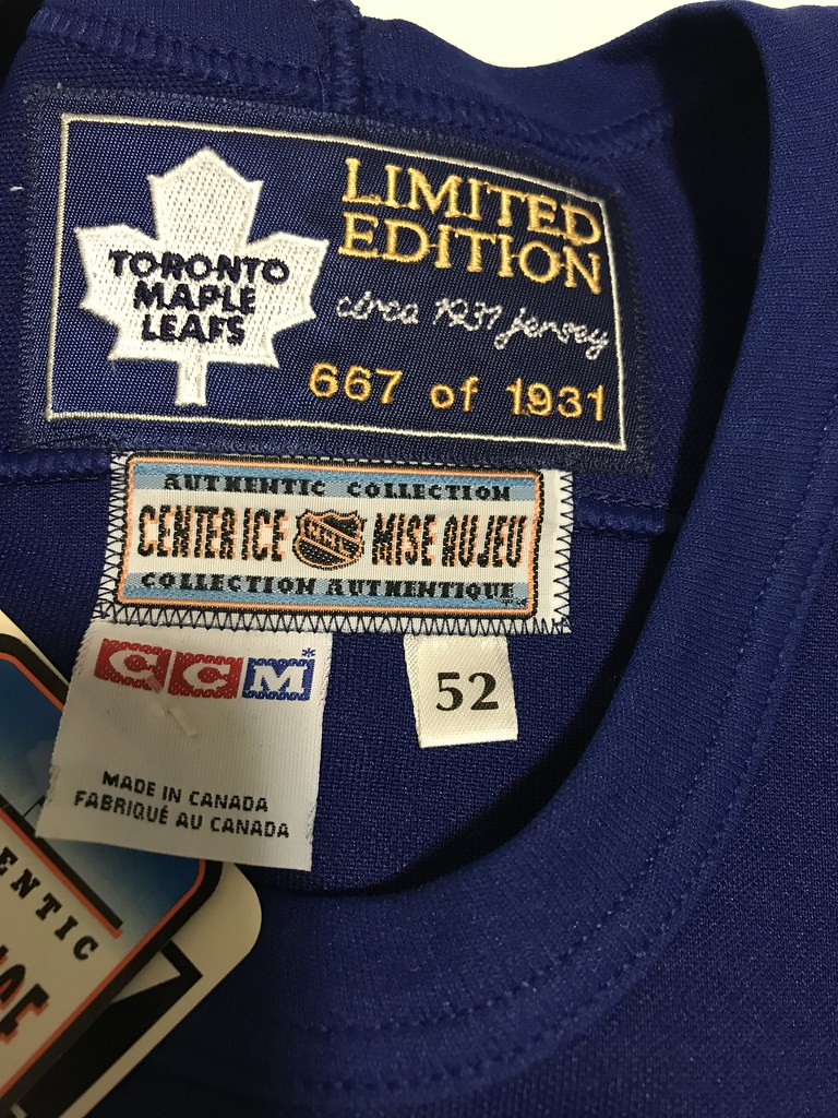 1996-97 Toronto Maple Leafs Doug Gilmour Heritage Jersey Tags