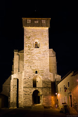 Saint Bertrand de Comminges, la Cathédrale, de nuit.
