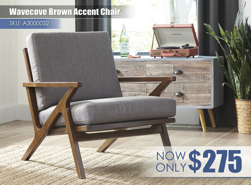 A3000032 - Wavecove Brown Accent Chair $275
