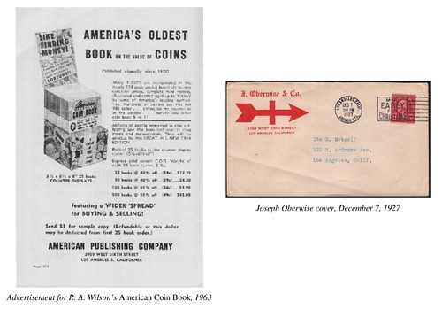 American Standard Coin Book ad with Oberwise cover