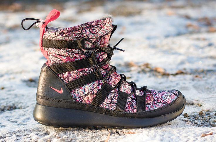 pretty nice 878b7 fb5c6 ... Trendy Ideas For Women s Sneakers   Liberty x Nike WMNS Roshe Run Hi  SneakerBoot (Detailed