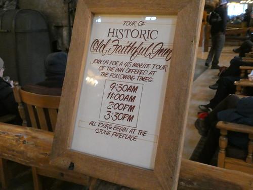 Histric Old Faithful Inn Tour