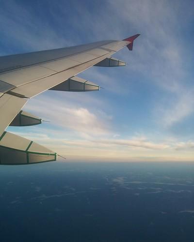 In transit #canada #aerial #airplane #blue
