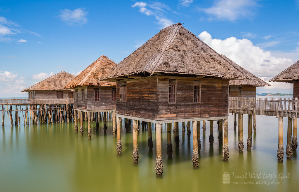 Above the water, Telunas Beach Resort