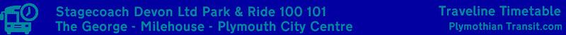 Timetable Header: 100