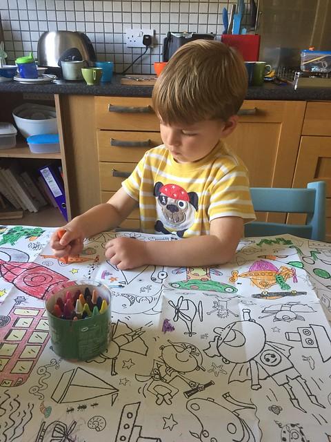 Milo and Ellis painting