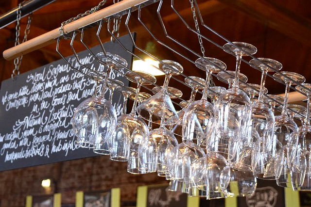 Glasses at Wild Goose, Canterbury #smallplates #wildgoose #thegoodsshed #canterbury | www.rachelphipps.com @rachelphipps