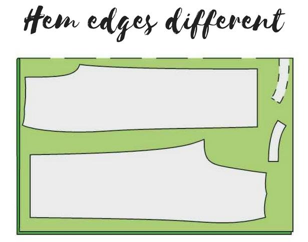 2 Hem Edges Different