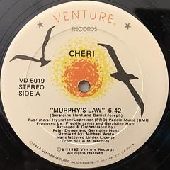 CHERI:MURPHY'S LAW(LABEL SIDE-A)