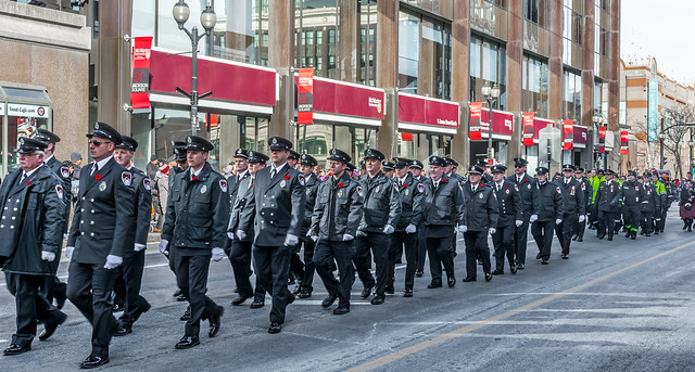 The 99th Annual Remembrance Day Garrison Parade & Service - Hamilton, Ontario. Lest We Forget