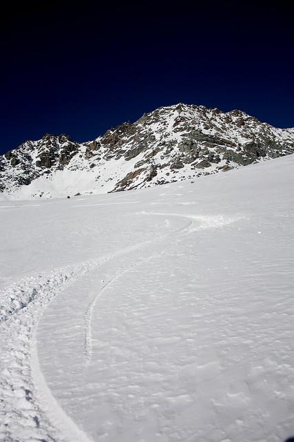 Glacier de Chavière recouvert de 30 cm de poudreuse de cinéma