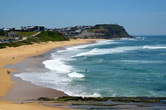 The coastline of Newcastle