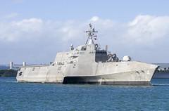 USS Coronado (LCS 4) arrives at Pearl Harbor, Nov. 25. (U.S. Navy/MC2 Katarzyna Kobiljak