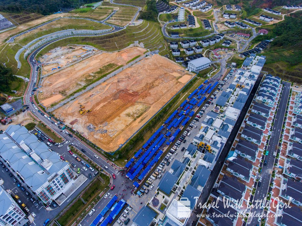 Aerial View of the Pasar Malam at Cameron Highlands