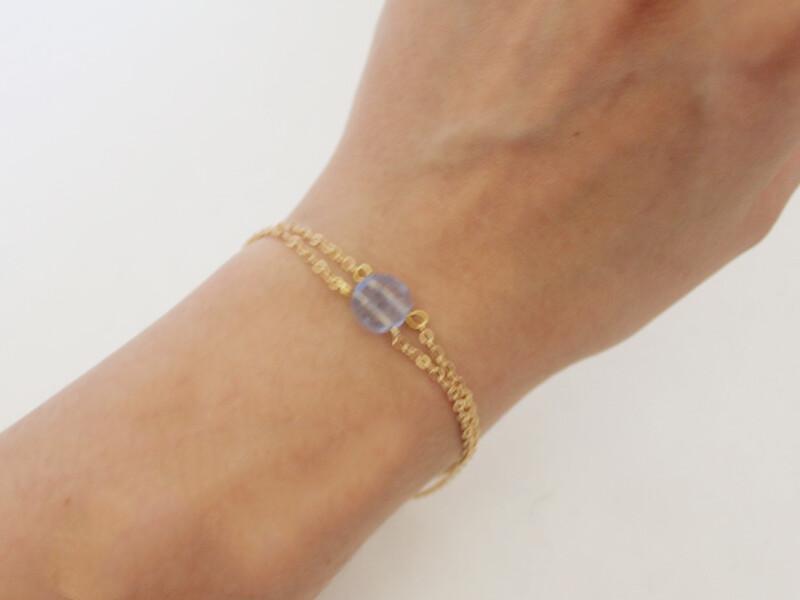 double hole bead bracelet
