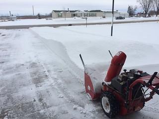 Snowblowing in Wisconsin