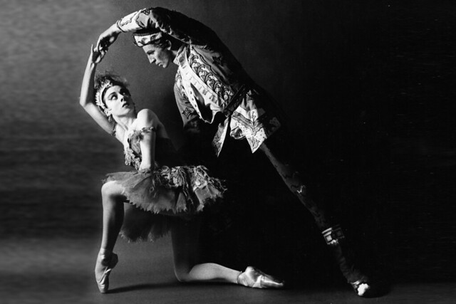 Annette Page as The Firebird and Ronald Hynd as Ivan Tsarevitch in The Royal Ballet revival of The Firebird, 1959 photograph by Roy Round © Roy Round