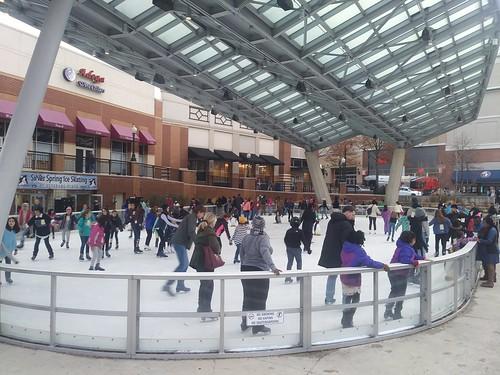 Ice skating rink, daytime, Silver Spring Veterans Plaza