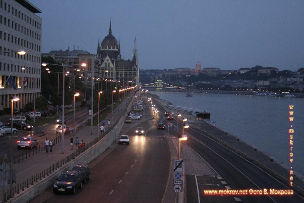 Столица Венгрии - Будапешт с фотокамерой прогулки туристов,