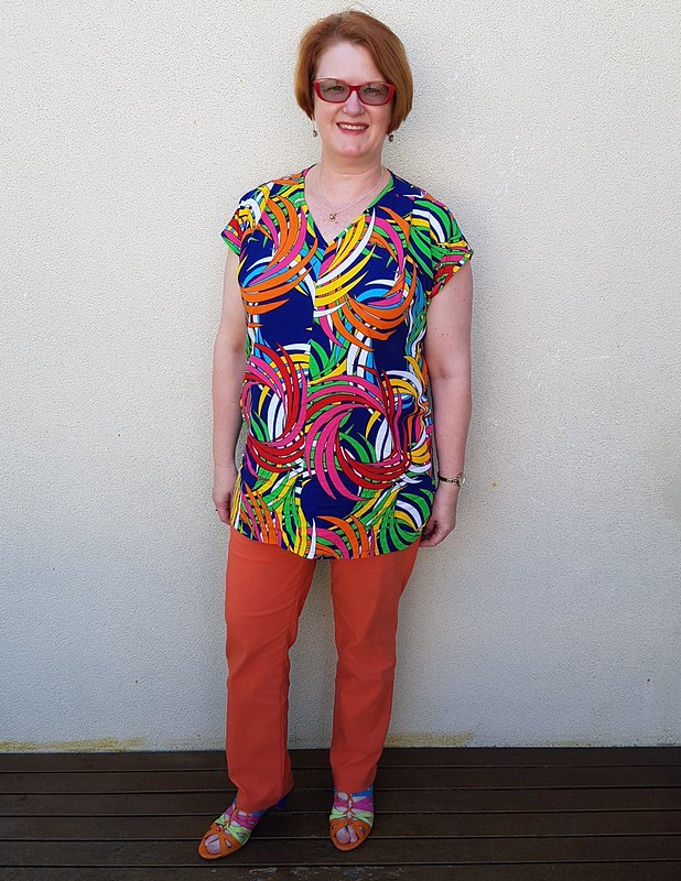 Hot Patterns Trilogy tunic in rayon from Darn Cheap Fabrics