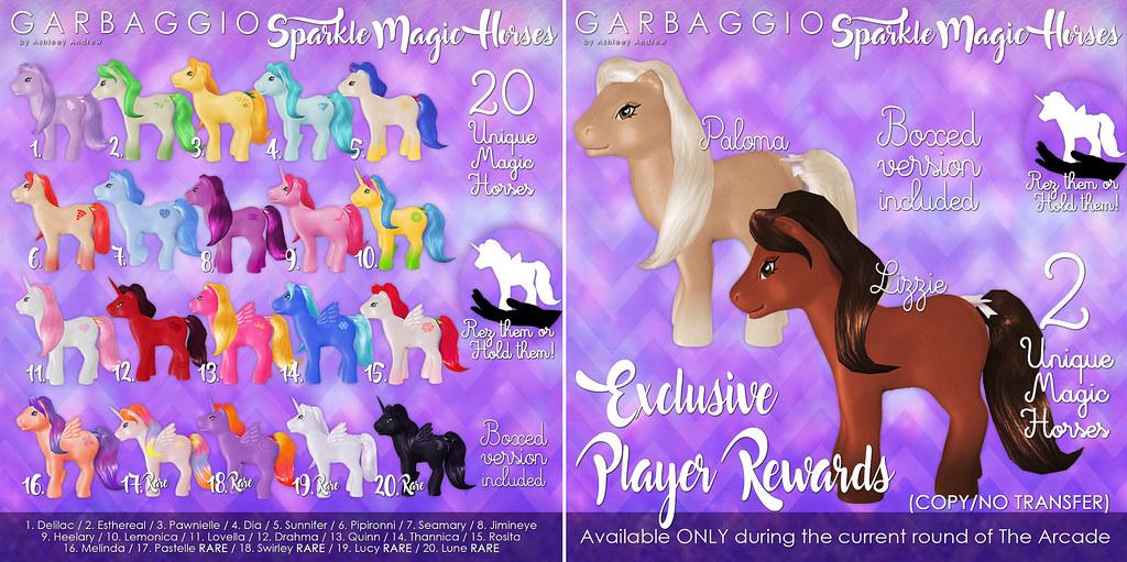 Sparkle Magic Horses Gacha Key + Reward