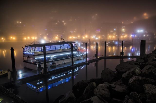 Fog at Granville Island