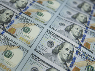 Sheet of $100 Bills