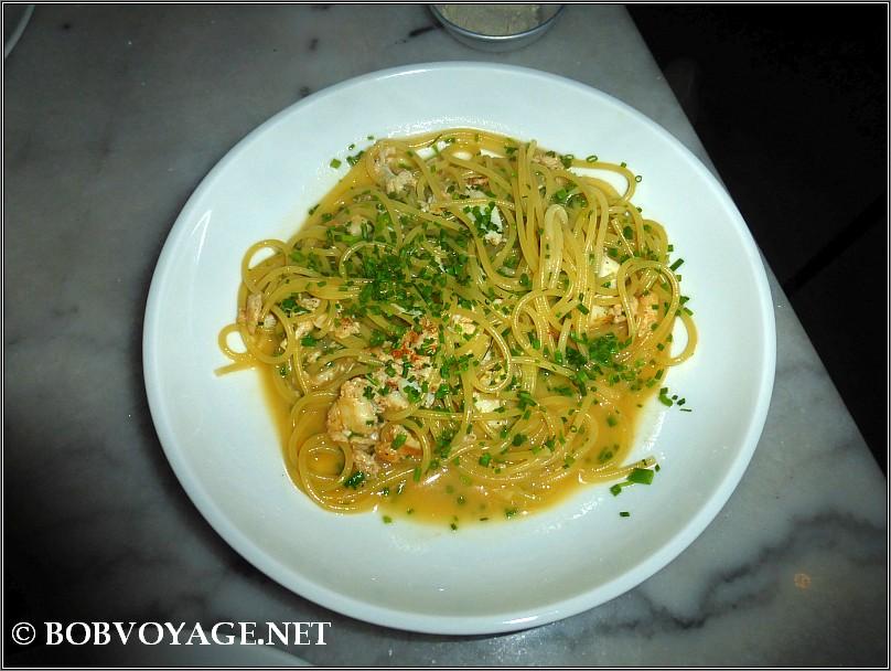 ספגטיני עם בשר סרטנים ב- מנסורה - mansura