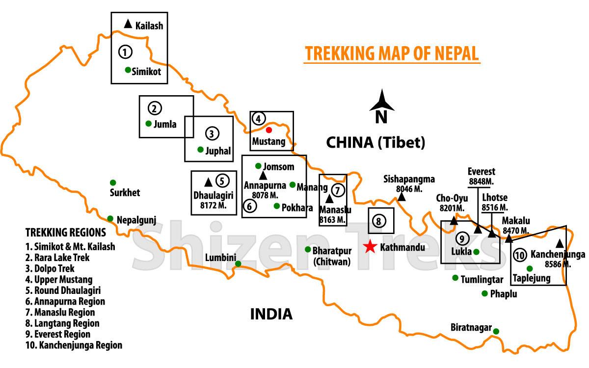 nepal-trekking-map