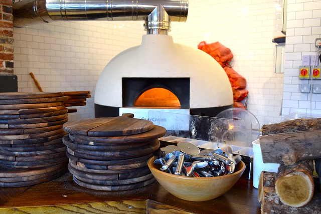 Pizza Oven at Chapter, Canterbury #pizza #canterbury #sourdough
