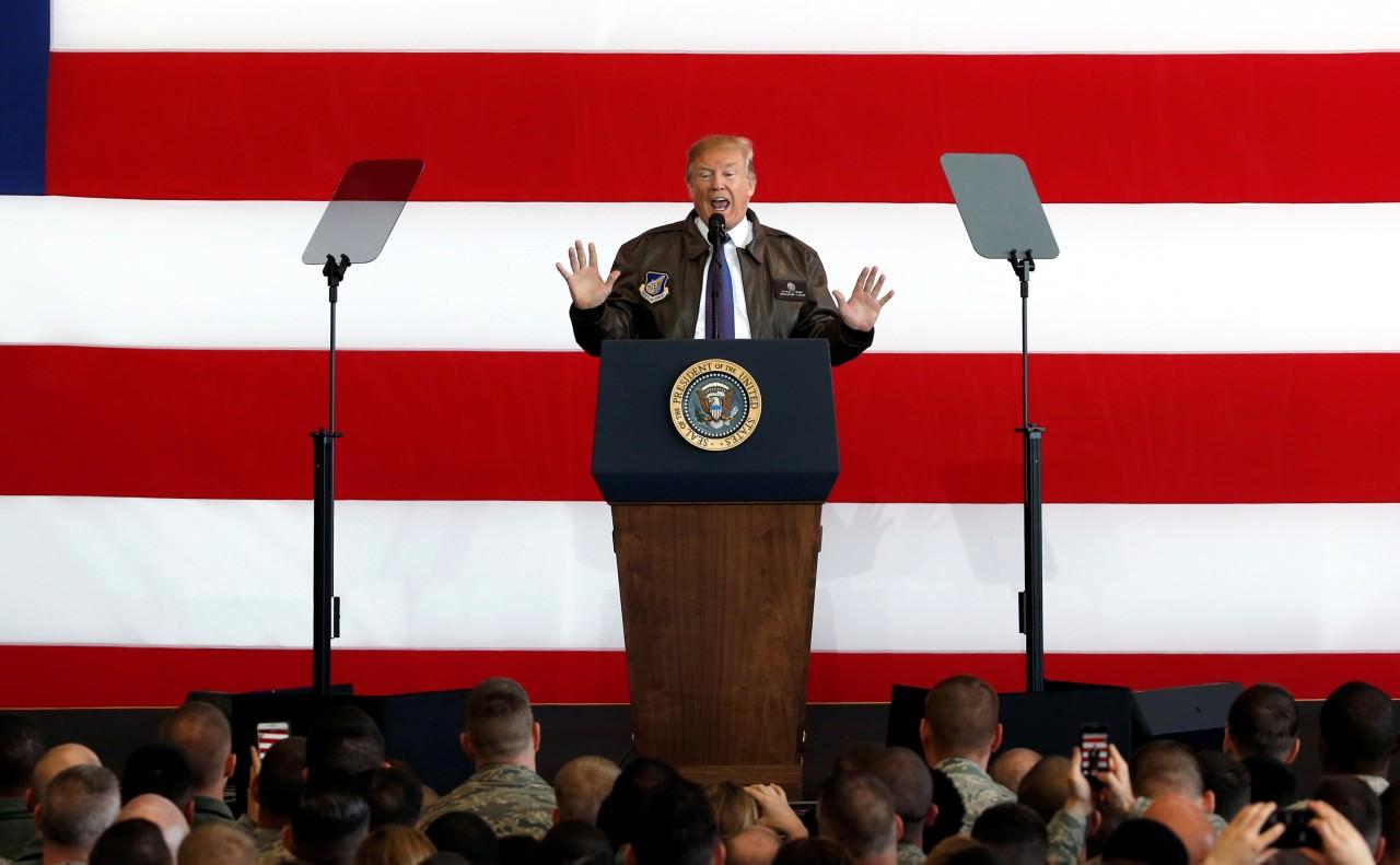 如此罕見的軍事集結,是否真的代表特朗普按捺不住,動武教訓北韓?(路透社)