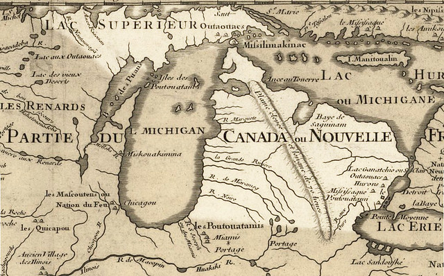 Michigan Delisle Map 1718
