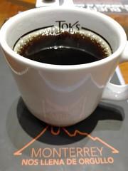 En.el cafe disfrutando la tarde.