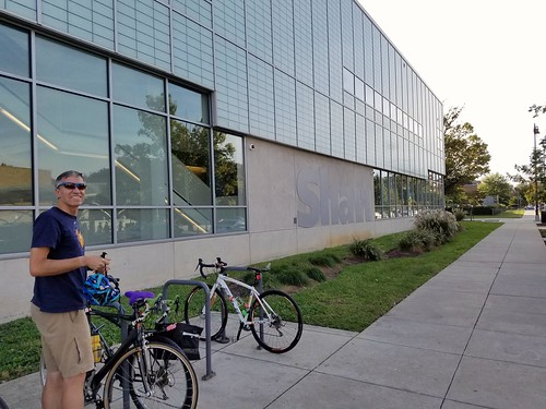 Rudi and Our Bikes at the Shaw Library