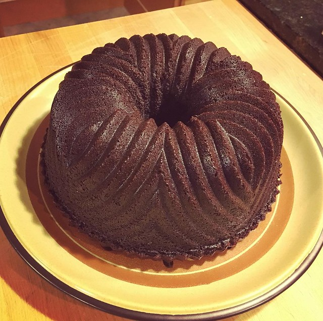 Chocolate bundt. And desserts are done.