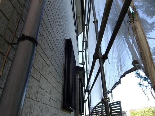 外壁塗り替えの足場組み