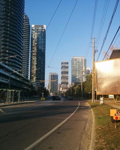 Towers of Lake Shore Boulevard (1) #toronto #skyline #mimico #lakeshoreblvd #condos #towers #latergram