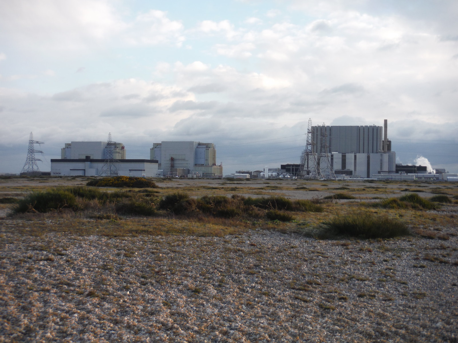 Dungeness Power Plant from Dungeness NNR SWC 154 - Rye to Dungeness and Lydd-on-Sea or Lydd or Circular (Lydd Ending)