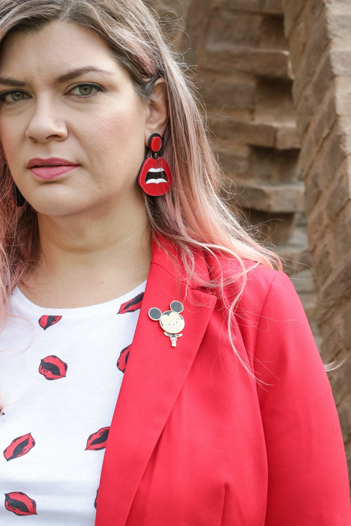 Outfit plus size, rosso su rosso (9)