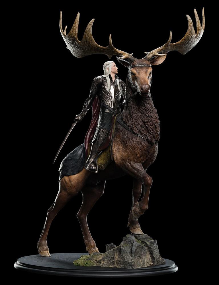 高傲的精靈之王!!WETA《哈比人:五軍之戰》麋鹿上的瑟蘭督伊 Thranduil On Elk 1/6 比例全身雕像作品