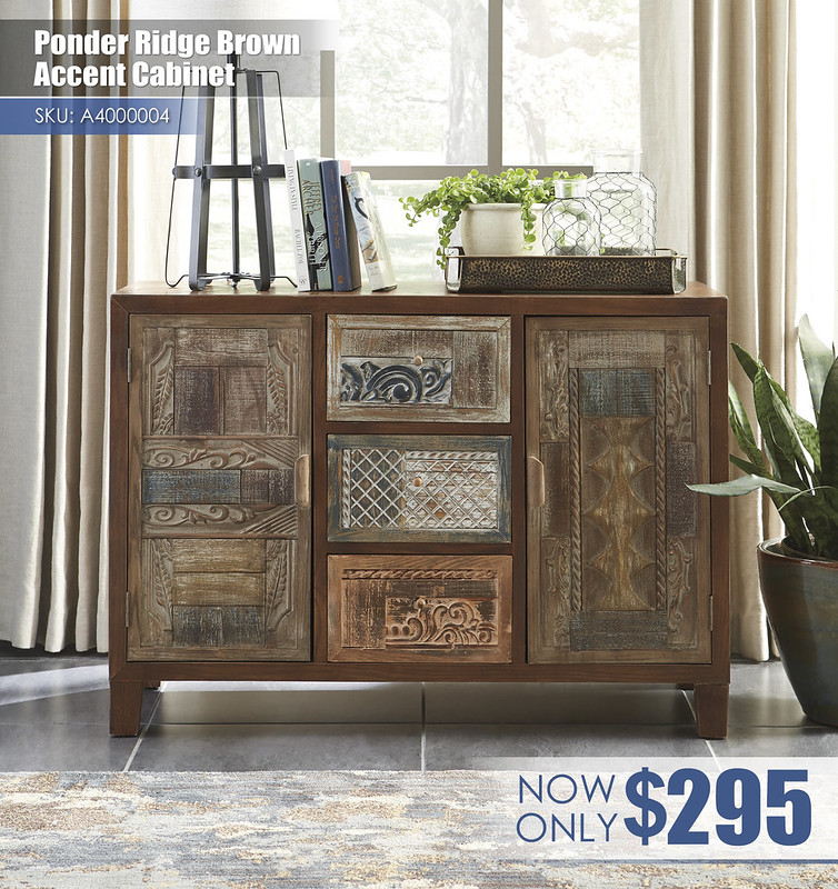 A4000004 - Ponder Ridge Brown Accent Cabinet $295