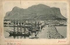 Palermo - Molo e Monte Pellegrino.