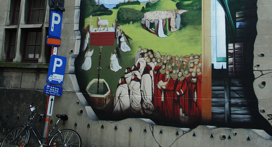 Streetart Ghent Alterpiece | Mooistestedentrips.nl