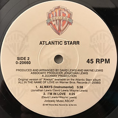 ATLANTIC STARR:ALWAYS(LABEL SIDE-B)
