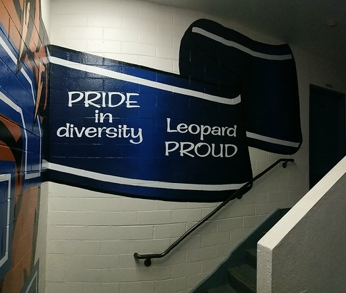 Los Cerritos Middle School - stairwell mural, right ribbon