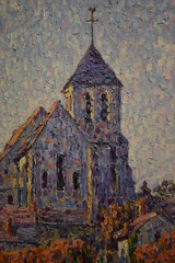St Petersburg, FL - Museum of Fine Arts - The Church at Montigny, Effect of Sunlight - Francis Picabia, French, 1908