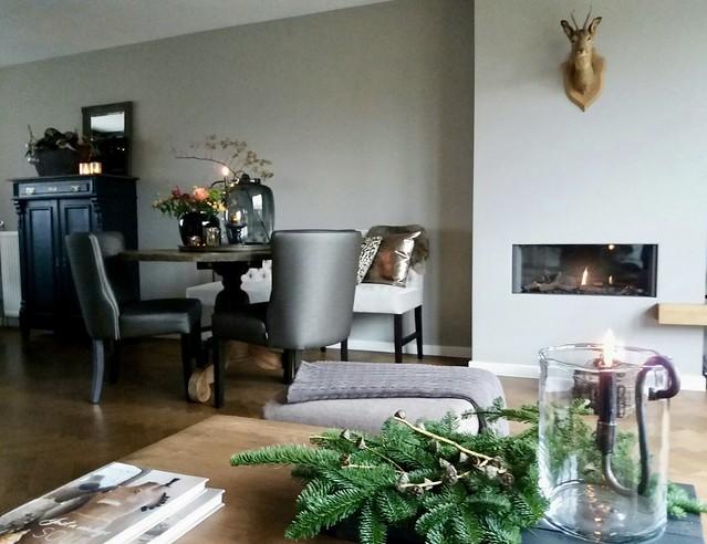 Binnenkijken kersthuis landelijk brocante