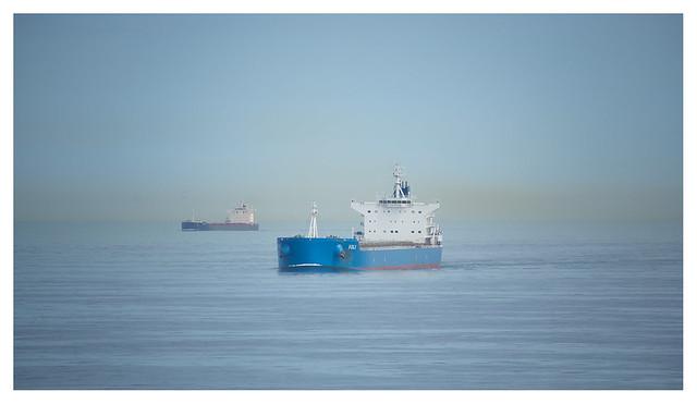 Blue hour, calm sea