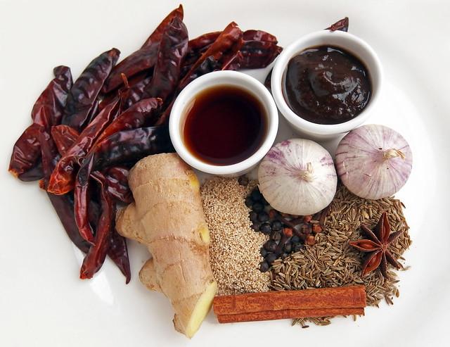 Specerijen en kruiden voor vindaloo